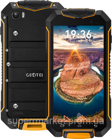Смартфон Geotel A1 8GB IP67 Black Оранжевый, фото 2