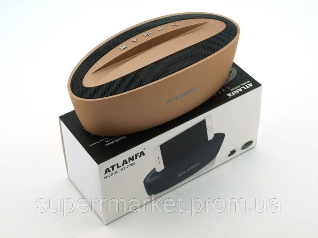 Акустика Atlanfa AT-7755 5W с подставкой, золотая