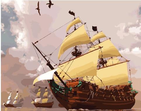 Картина по номерам Флот, 40x50 см., Brushme