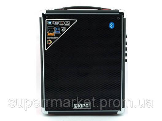 Kipo KB-Q3 20W, Bluetooth активная колонка-чемодан с караоке FM MP3, фото 2