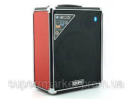 Kipo KB-Q3 20W, Bluetooth активная колонка-чемодан с караоке FM MP3, фото 3
