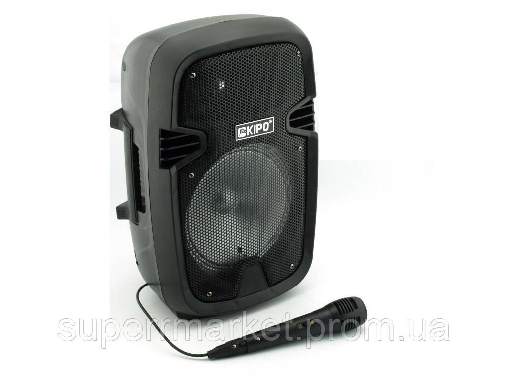 Kipo KB-Q5 20W, Bluetooth активная колонка-чемодан с караоке FM MP3