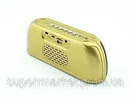 Блютуз колонка, Golon RX-1818bt 6W, золотая, фото 2