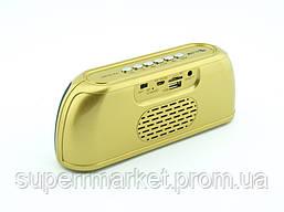 Блютуз колонка, Golon RX-1818bt 6W, золотая, фото 3