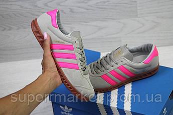 Кроссовки в стиле Adidas, серые с розовым, 38, 39, 40, код6027, фото 2