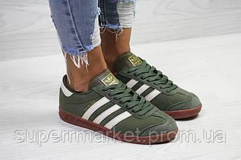 Кроссовки Adidas, темно зеленые. Код 6027, фото 2
