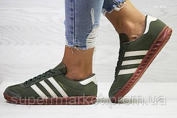 Кроссовки Adidas, темно зеленые. Код 6027, фото 3