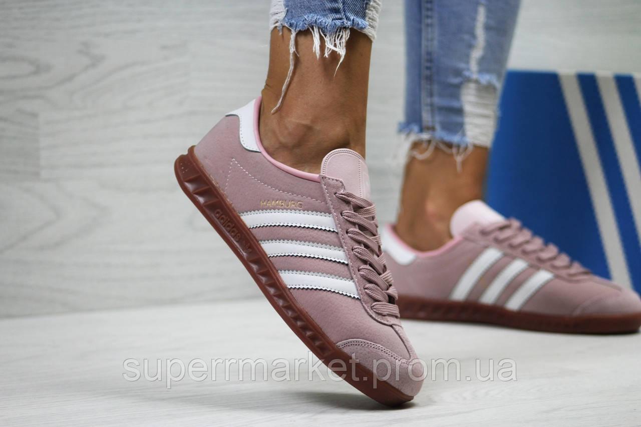 Кроссовки в стиле Adidas, розовые, 38, 40, 41, код6029
