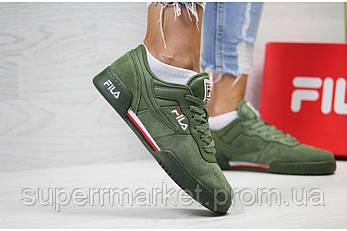 Кроссовки в стиле Fila зеленые, код 6033, фото 2
