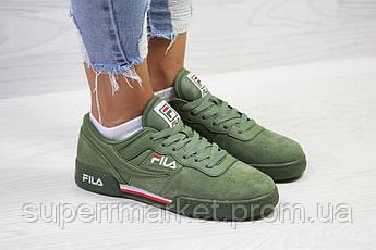 Кроссовки в стиле Fila зеленые, код 6033, фото 3