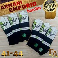 Носки мужские короткие Emporio Armani Турция 41-44р бамбук чёрные ароматизированное  деми НМД-051019