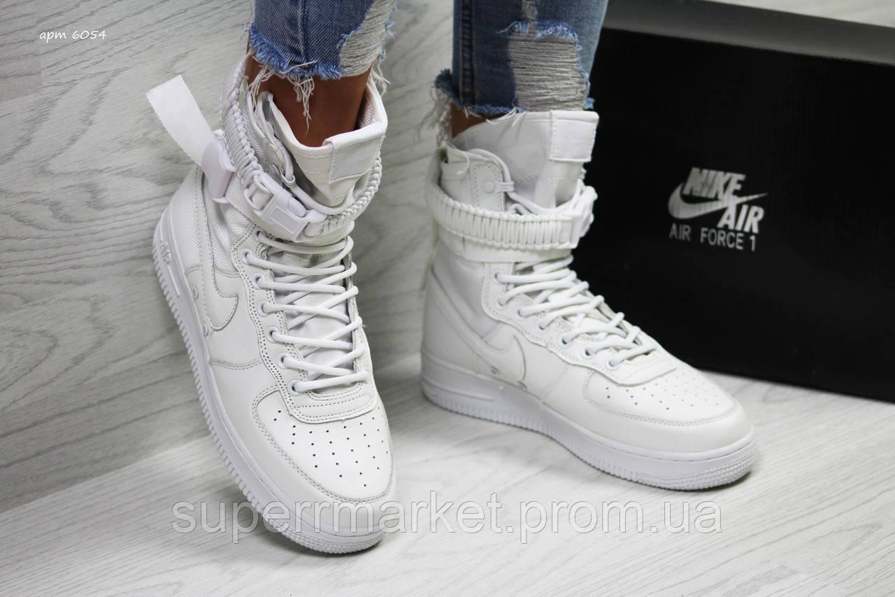 Кроссовки в стиле Air Force LF-1 белые. Код 6054