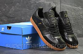 Кроссовки Adidas Samba черные, код6068, фото 2