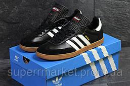 Кроссовки Adidas Samba черно белые, код6069, фото 2