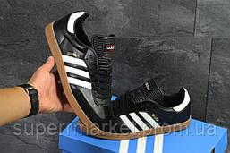 Кроссовки Adidas Samba черно белые, код6069, фото 3