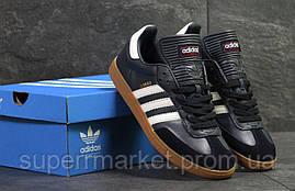 Кроссовки Adidas Samba темно синие с белым, код6070, фото 2