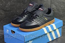 Кроссовки Adidas Samba темно синие, код6071, фото 3