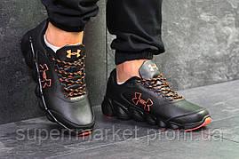 Кроссовки Under Armour черные с оранжевым, код6078, фото 3