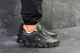 Кроссовки Under Armour черные с зеленым, код6079, фото 2