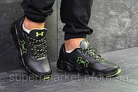 Кроссовки Under Armour черные с зеленым, код6079, фото 3