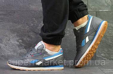 Кроссовки Reebok Classic серые кожа, код6091