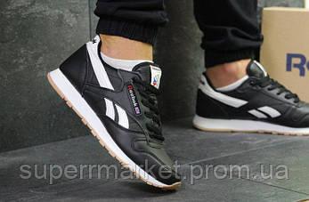 Кроссовки Reebok Classic черные кожа, код6092, фото 2