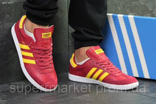 Кроссовки Adidas красные, код6097, фото 2