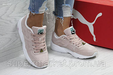 Кроссовки в стиле Puma Trinomic пастельные замшевые. Код 6110