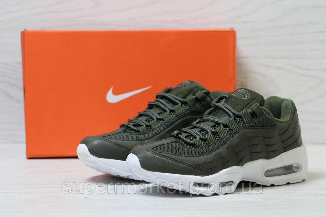 Кроссовки в стиле Nike темно-зеленые, р-38