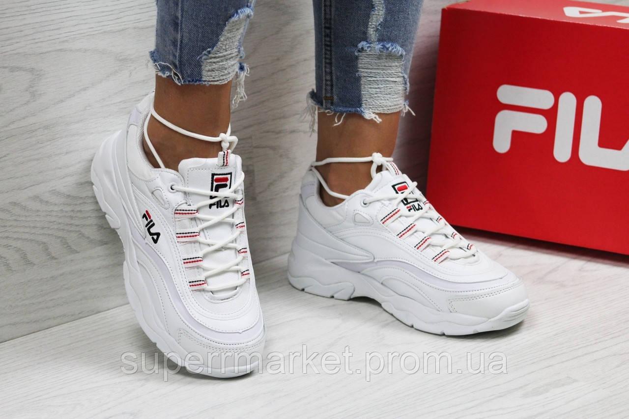 Кроссовки в стиле Fila белые, р-36