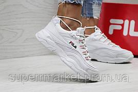 Кроссовки в стиле Fila белые, р-36, фото 3