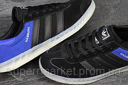 Кроссовки Adidas черные с синим, код5634, фото 3