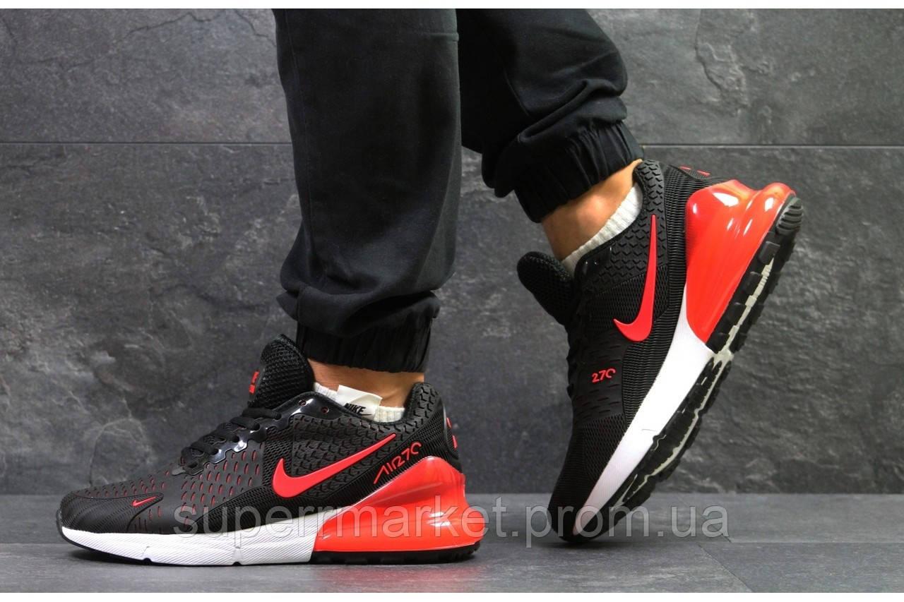 Кроссовки Nike Air Max 270 черные с красным. Код 5742