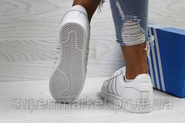 Кроссовки в стиле Adidas белые. Код 5721, фото 3