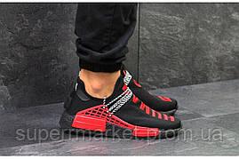 Кроссовки Adidas NMD Human Race черные с красным. Код 5751, фото 3