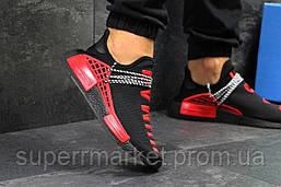 Кроссовки Adidas NMD Human Race черные с красным. Код 5751, фото 2