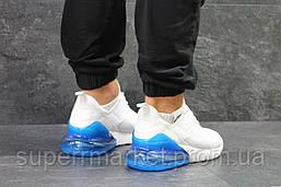 Кроссовки Nike Air Max 270 белые с синим, код5756, фото 3