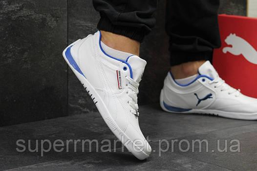 Кроссовки Puma белые с синим. Код 5779, фото 2