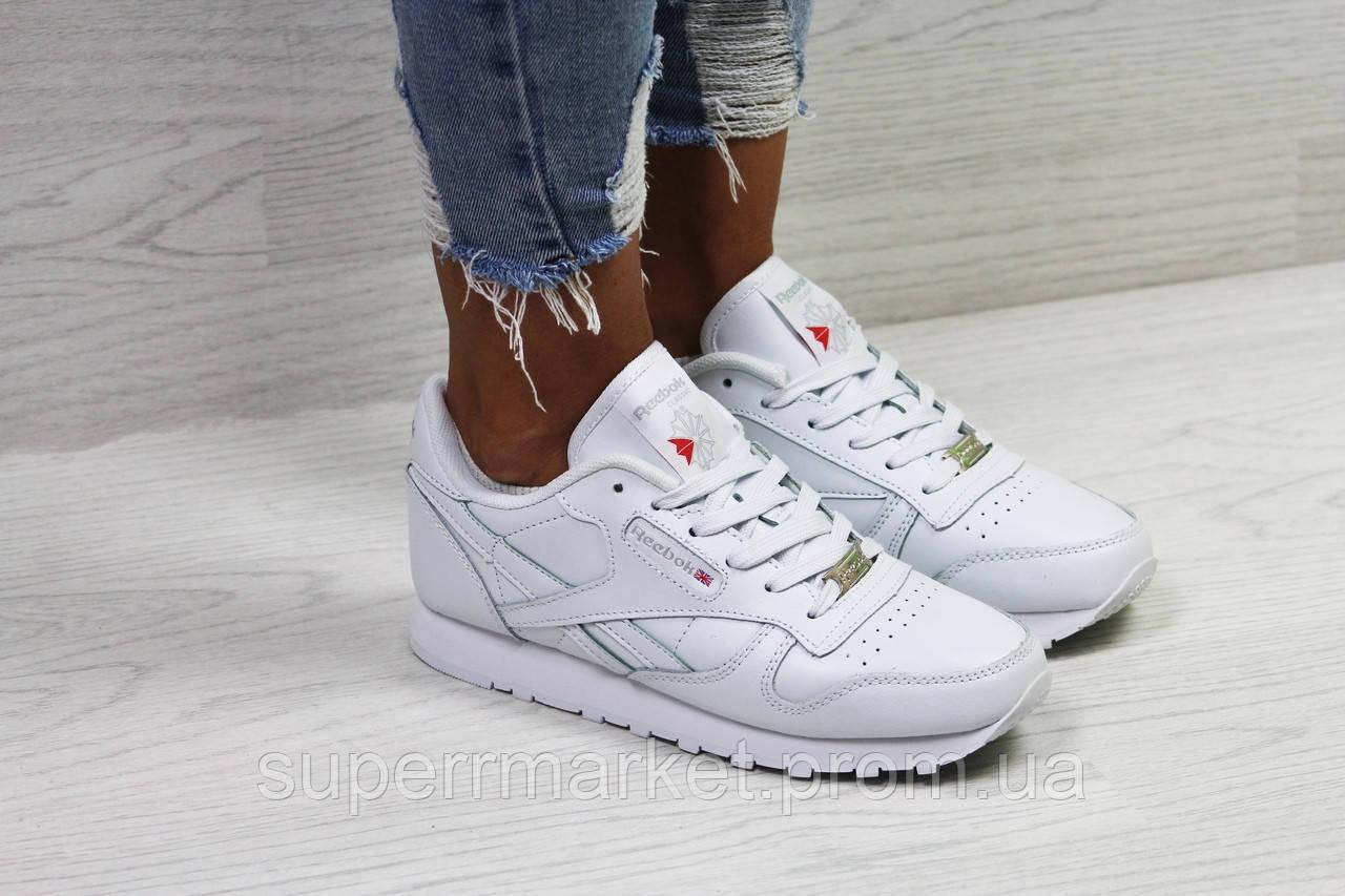 Кроссовки женские в стиле Reebok белые. Код 5785