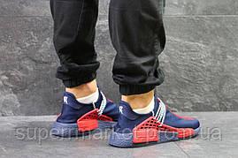 Кроссовки Adidas NMD Human Race синие с красным. Код 5820, фото 2