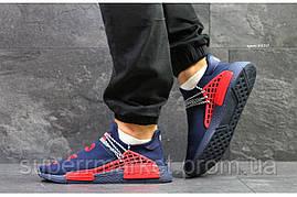 Кроссовки Adidas NMD Human Race синие с красным. Код 5820, фото 3