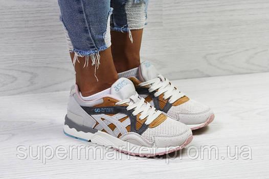 Кроссовки в стиле Asics беж с коричневым. р36, код5823, фото 2