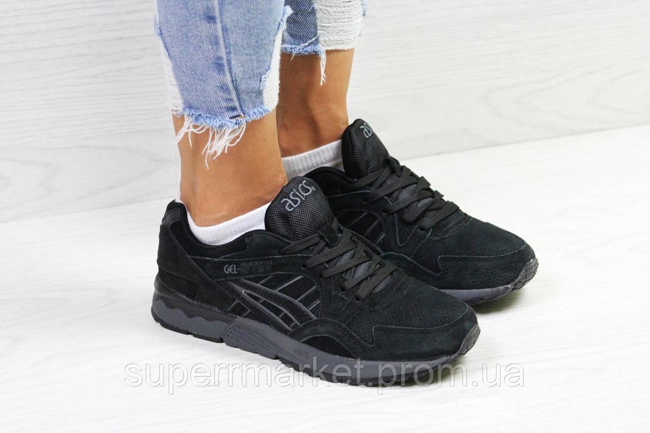 Кроссовки в стиле Asics черные, код5825