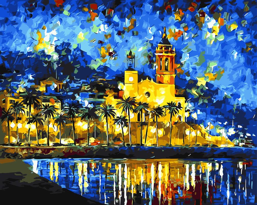 Картина по номерам Краски побережья, 40x50 см., Brushme