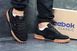 Кроссовки Reebok черные с коричневым, код5844, фото 2