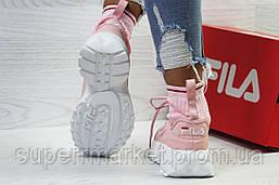 Кроссовки в стиле Fila розовые, код5853, фото 3