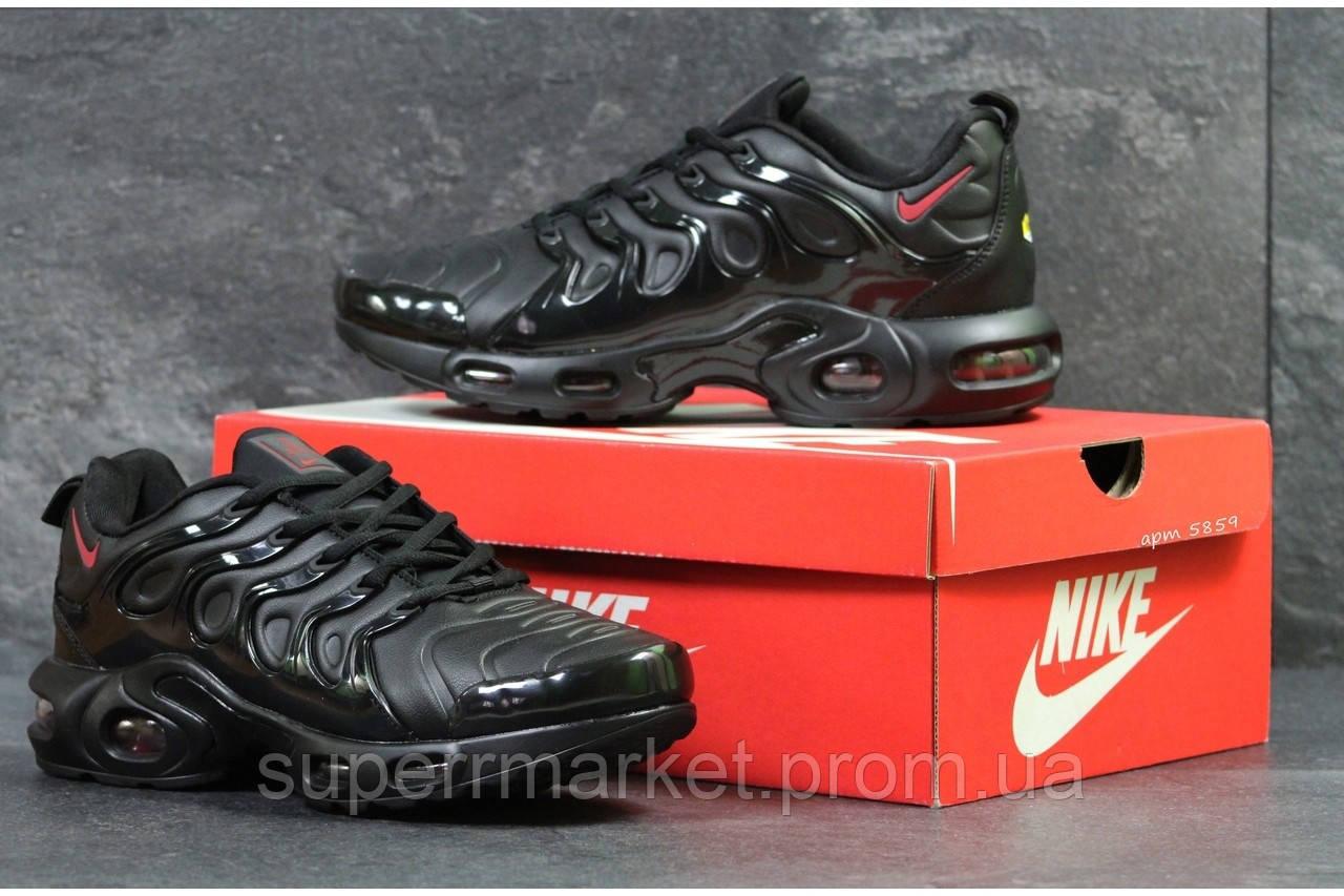 Кроссовки Nike Air Vapormax Plus черные с красным. Код 5859