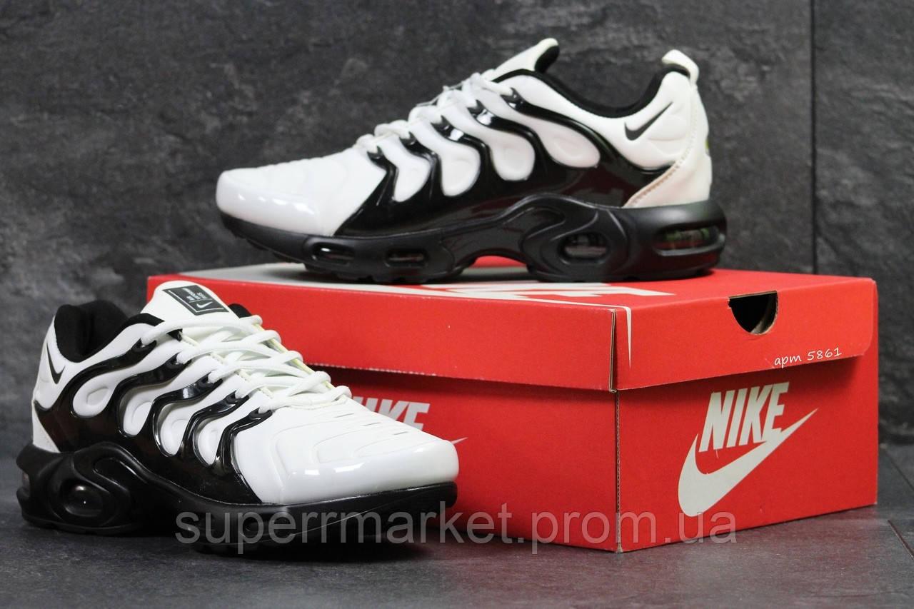Кроссовки Nike Air Vapormax Plus белые с черным, код5861