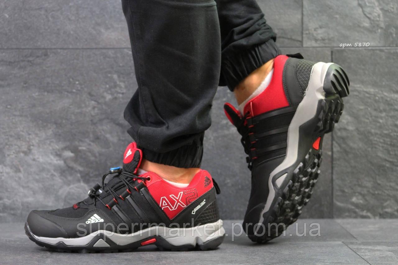 Кроссовки Adidas черные с красным, код5870