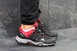 Кроссовки Adidas черные с красным, код5870, фото 3